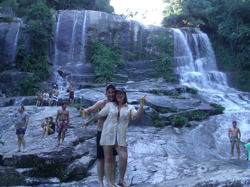 Piero E Maira Na Cachoeira Da Escada